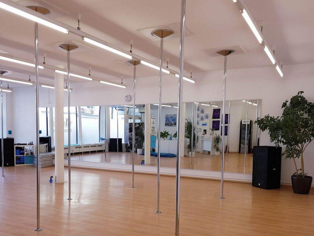 Patrica's DanceUp Studio in Schweinfurt, hier können die Schüler hoch hinaus! Foto: Patricia Weber