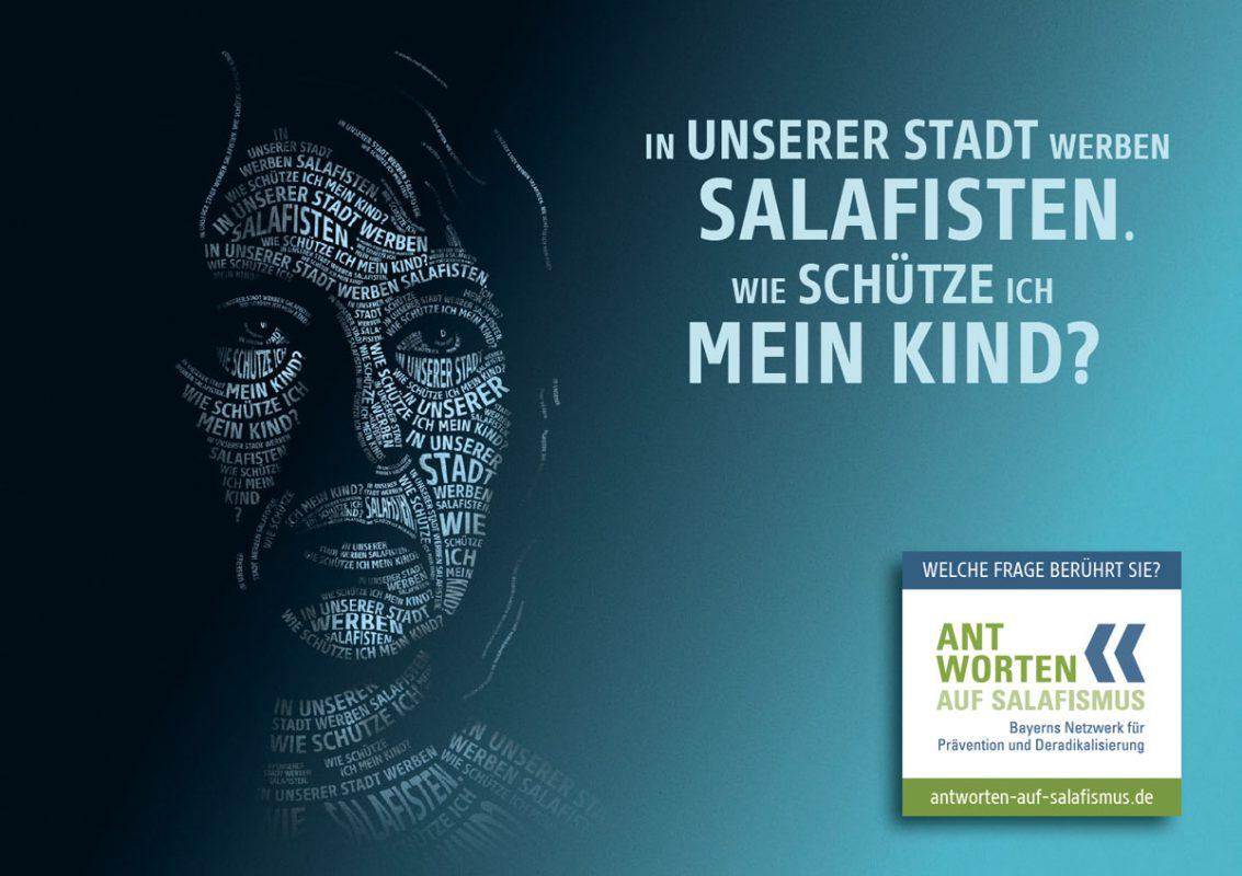 """Motiv der Plakatkampagne """"Antworten auf Salafismus"""" - Quelle: Bayerische Staatsregierung"""