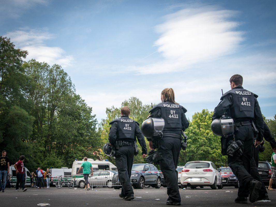 Starke Präsenz der Polizei - Foto: Pascal Höfig