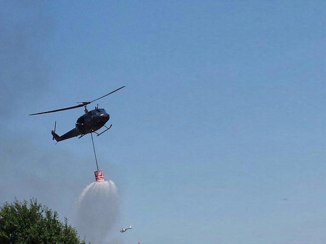 Zufällig befand sich ein Hubschrauber der Bundeswehr zu Schulungszwecken in der Nähe. Foto: Steffen H.