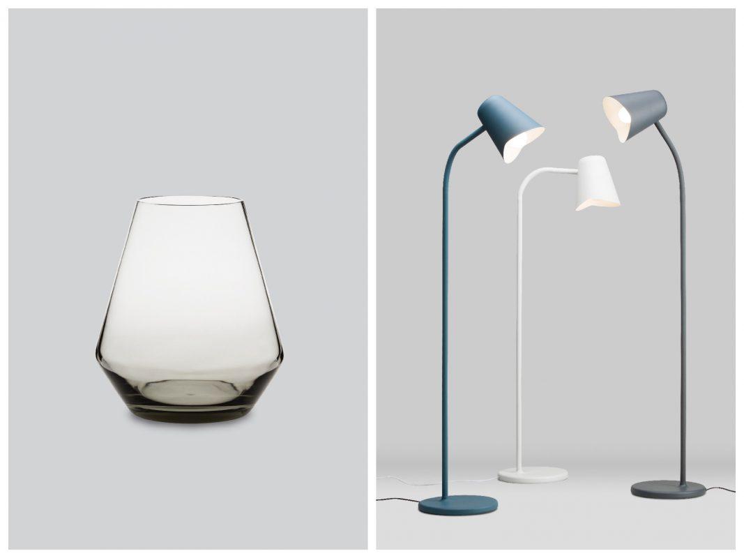 Links: Northern Lighting Fyr Kerzenlaterne 2 / rechts: Northern Lighting Me Stehleuchte familie. Foto: einrichten-design.de