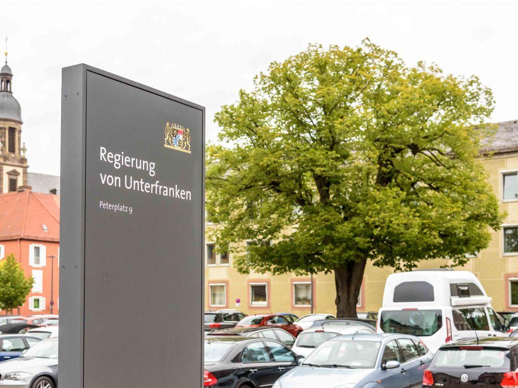 Der Parkplatz der Regierung von Unterfranken. Foto: Pascal Höfig