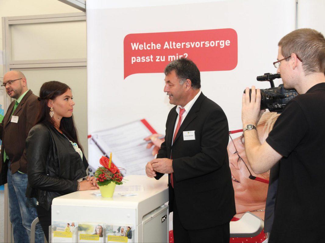 Die deutsche Rentenversicherung Nordbayern berät auf der Mainfrankenmesse. Foto: deutsche Rentenversicherung Nordbayern