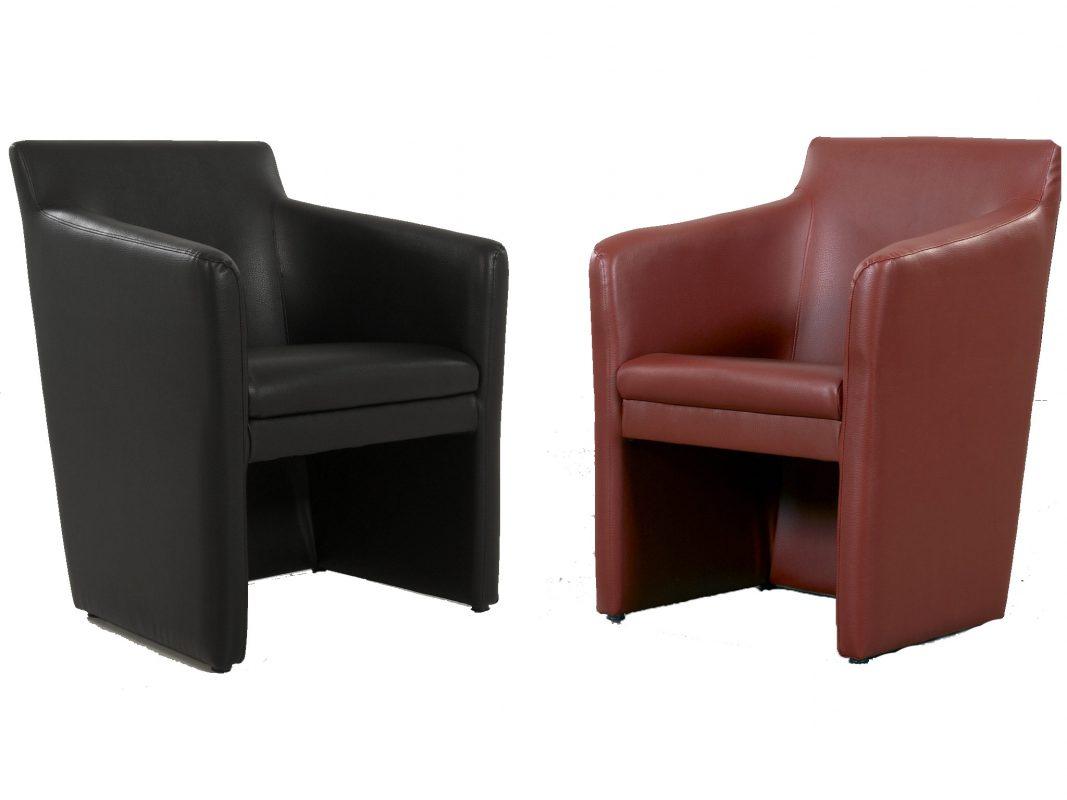 Schicke Kunstledersessel in schwarz oder rot für 98 € statt 159 €. Fotoquelle: Möbel Hornung