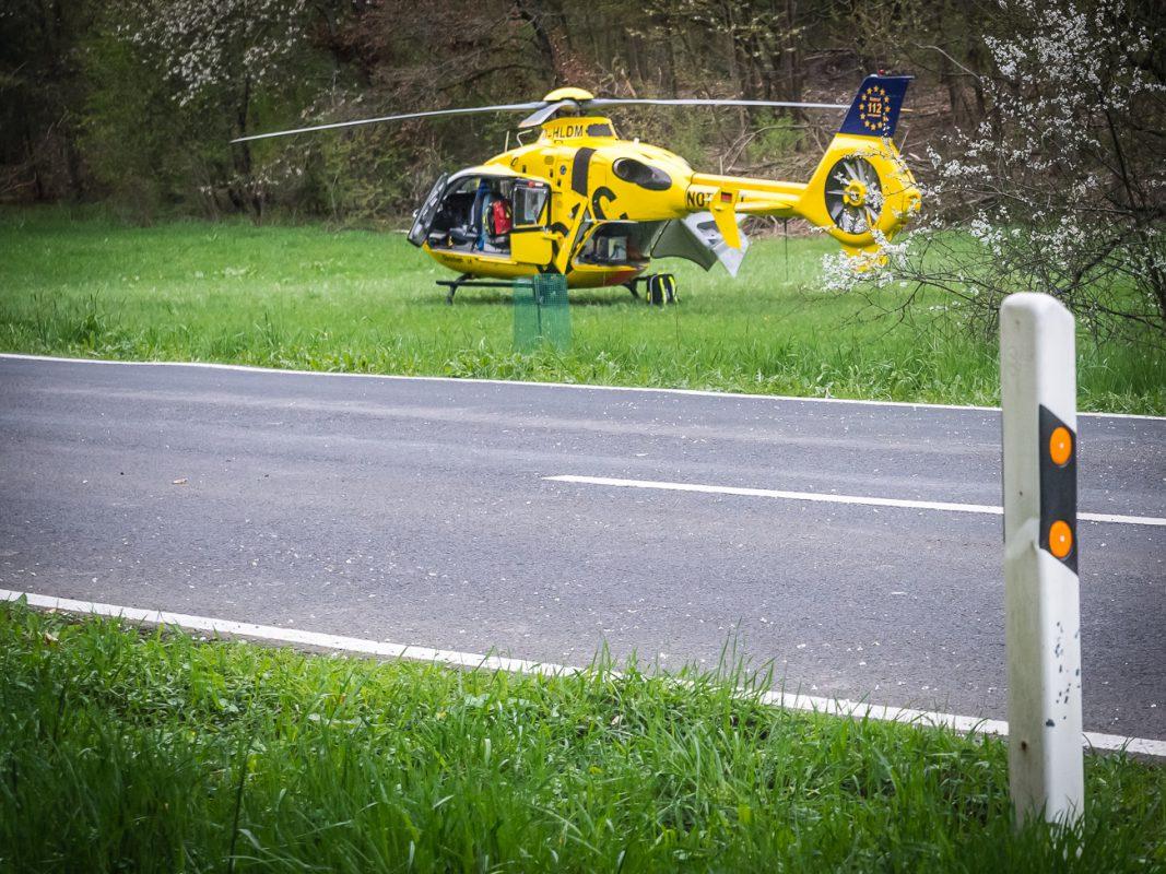 """Der Rettungshubschrauber der ADAC Luftrettung """"Christoph 18"""" - Symbolfoto: Pascal Höfig"""
