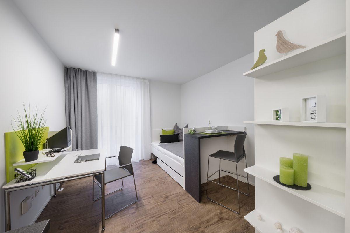 Die Wohneinheiten sind vollständig möbliert. Grafik: Bader Wohnbau GmbH