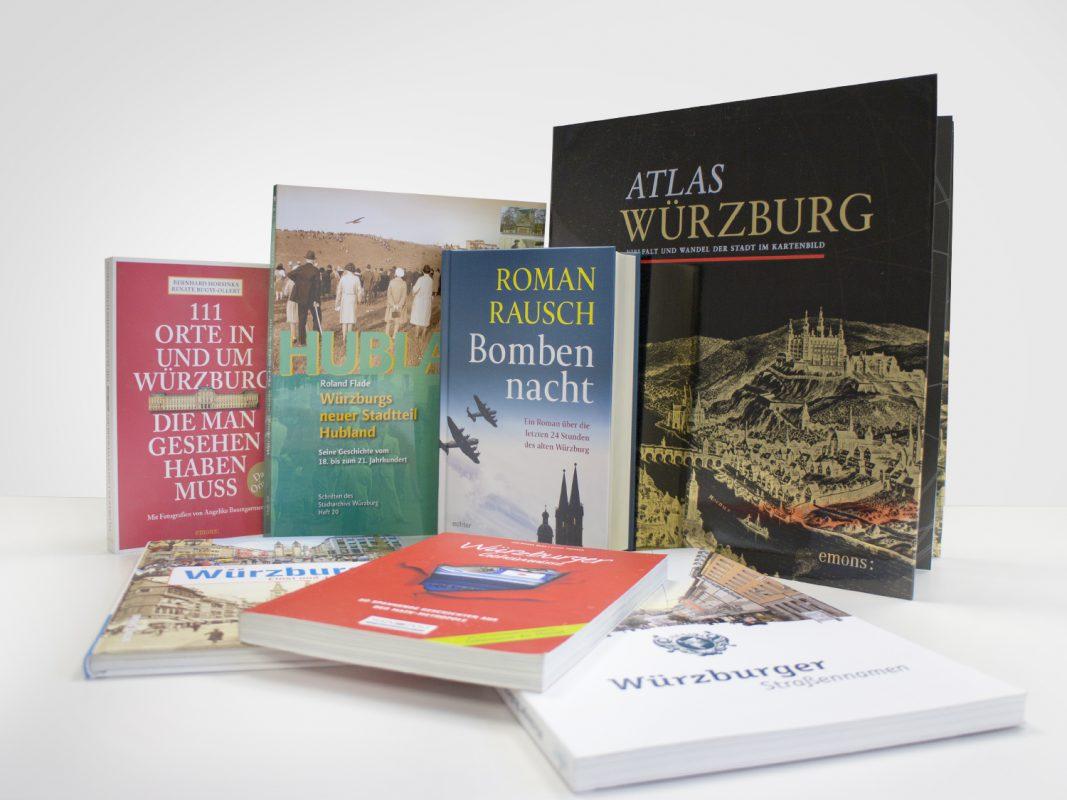 Für jeden etwas dabei: Bücher über Würzburg. - Foto: Marcel Gollin