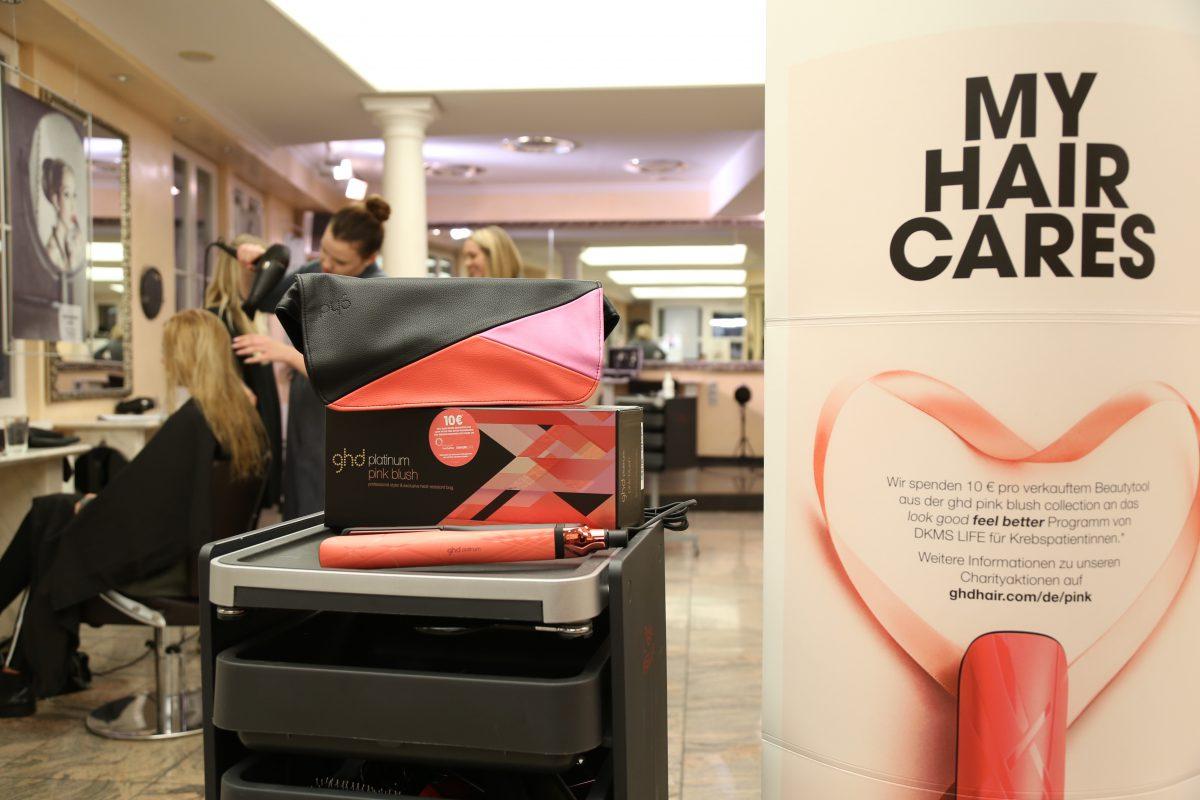 Lasst euch mit dem ghd pink Blush für den Abend stylen. Foto: Rolando Lemuria / Hair Fashion & Academy