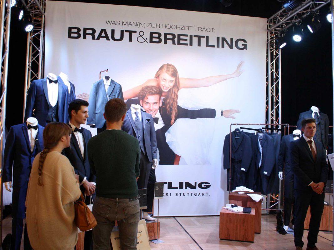 Die aktuellen Anzug-Trends auf der Hochzeitsmesse. Foto: Hochzeitsmesse Traumhochzeit